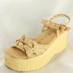 SBICCA Woven Strap Platform Sandals